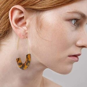 Jewelry - 4 for $20 Acrylic Resin Dangle Earrings (Leopard)